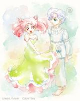 ChibiUsa and Peruru by kir-tat