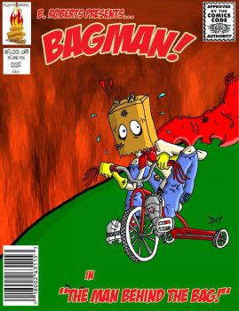 Bagman issue 1 mock cover by flammingcorn
