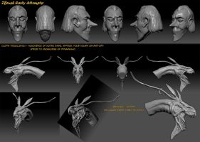 Zbrush Early Attempts by Canadian-Rainwater