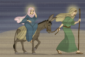 The Journey to Bethlehem by Porcelain-Requiem
