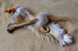Wolf Bone and Fur Ritual Knife by lupagreenwolf