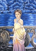 Padme' Amidala by the lake by MissCosettePontmercy