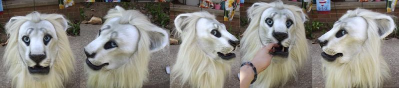 Realistic Lion Head by ArtSlavefursuits