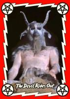 The Devil Rides Out Trading Card by Hartter