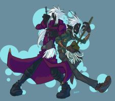 Two Drow and some Brooms by BobTheDragon