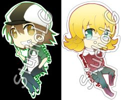 Set2 Tiger and Bunny Key-chain by StudioLG