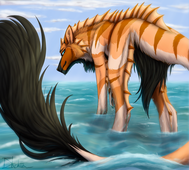 Sea Tripping [comm] + time lapse by Dachiia