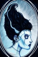 The Bride of Frankenstein Oval Portrait by ZlayerOne