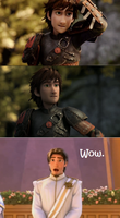 Eugene's Reaction to Older Hiccup by grandduchesscrazy