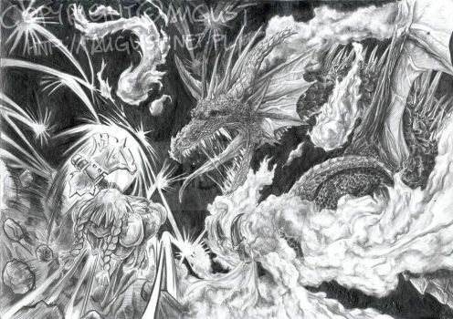 Between Dwarf and Dragon by AugustAnna