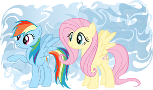 Rainbow Dash and Fluttershy by TrueCelticHeart