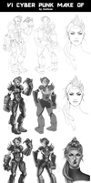 League of Legends_VI_Cyberpunk_step by step by Kashuse