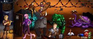 A Sleazy Tavern Nerdy Halloween by jocarra