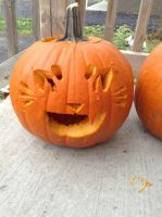 I Tried to Carve a Pumpkin by TheNeonUmbreon