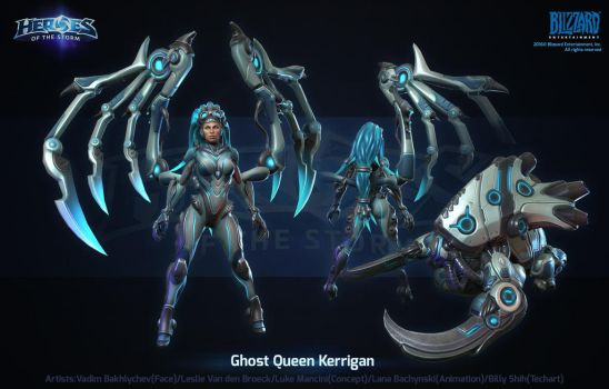 Hots Ghost Queen Kerrigan by polydrawer