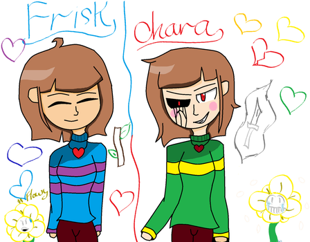 Frisk And Chara by Bonnie1200