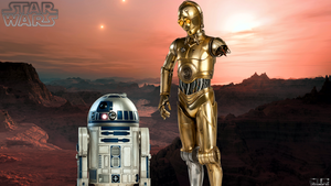 STAR WARS C3PO and R2D2 by DavidCreativeDesigns