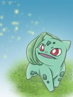 Bulbasaur - Night Light by roddz-art