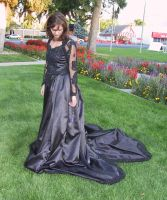 Black Ballgown Terra 37 by Falln-Stock