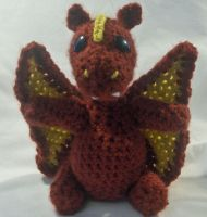 Plush Amigurumi Fire Dragon by PerilousBard