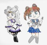 Chibi Dark Moon and Star by princessfromthesky