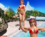 Honoka Bikini (wet) Dead or Alive 5 Last Round by Rehabhardcore