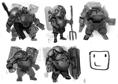 038 _ very quick sketches by NickProkoArt