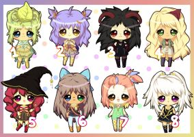 $5 Adoptables - Set 19 OPEN (1 left) by plurain