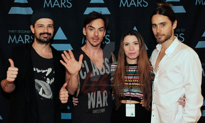 Me with Thirty Seconds To Mars  MEET and GREET by KittycatNita