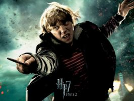 Ron action wallpaper by HarryPotter645