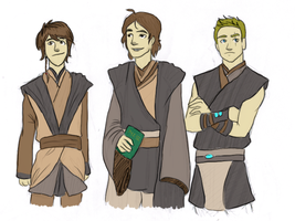 Young Padawans {Coloured} by TheBritishGeek