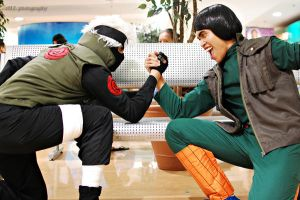 Copy Cat Ninja vs Green Beast by maritinesumaki