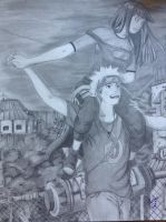 Naruto and Hinata by CRuschFineArt