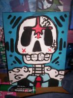 skull painting by disco-overdose