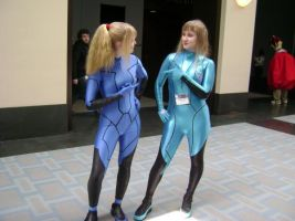 Samus and Samus by XxzeldafanxX