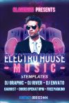 Electro House Music Flyer Free PSD Template by KlarensM