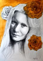 Golden rose by DariaGALLERY