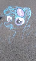 Vinyl Scratch (Chalk) [not completed] by krlmisha