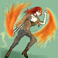 Commission / Firebending by Khaylia