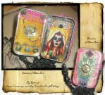Altar Box Santa Muerte and Sun by grimdeva