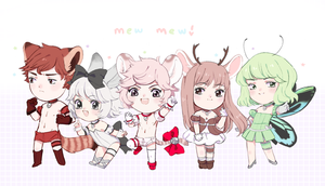 when the whole squad lookin fresh by milkbunnii