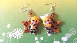 Vocaloid handmade polymer clay earrings by SimonaZ