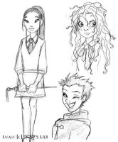 Luna, Cho and Tonks by lberghol