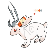 Jackalope character SALE by Klumpeh