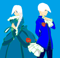 Jack Frost and Snowqueen Cosplaying by TwinsofSatan