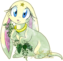 Gina with Herbs - Sticker by JB-Pawstep
