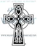 Celtic Cross And Wolf by WildSpiritWolf