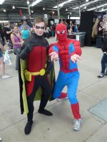Supanova 2012 - Robin and Spiderman by nkbswe5