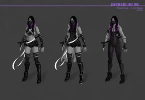 Psylocke Outfits by GhoulBiz