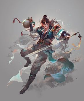 Linghu Chong by antilous
